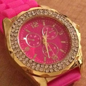 Accessories - Pink Bling Watch
